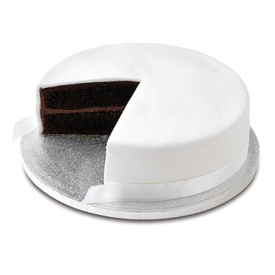 Undecorated Iced Fruit Cake