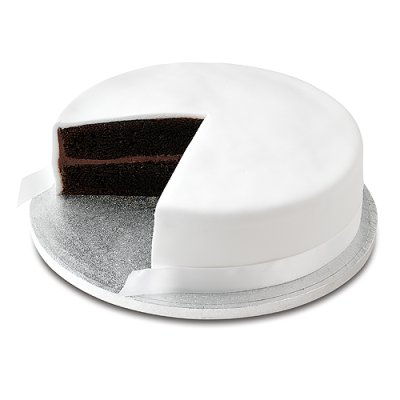 Plain Iced Birthday Cake