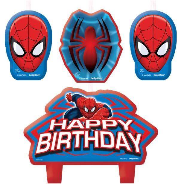Spiderman Birthday Candle Set